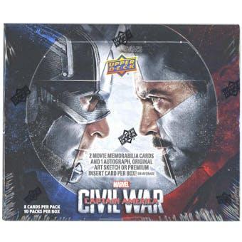 Marvel Captain America: Civil War Trading Cards Box (Upper Deck 2016)