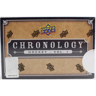 2018/19 Upper Deck Chronology Volume 1 Hockey Hobby Box