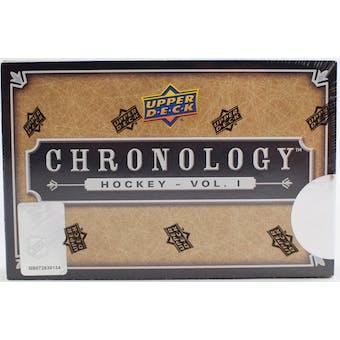 2018/19 Upper Deck Chronology Volume 1 Hockey Hobby Box