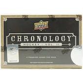 2019/20 Upper Deck Chronology Volume 2 Hockey Hobby Box