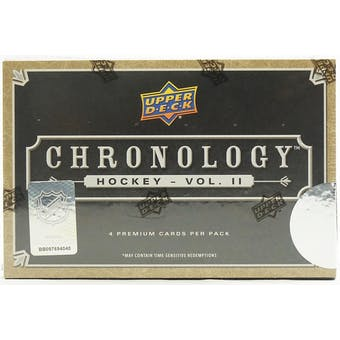 2019/20 Upper Deck Chronology Volume 2 Hockey Hobby Box