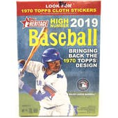 2019 Topps Heritage High Number Baseball Blaster Box (Cloth Stickers)