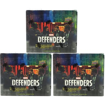 Marvel The Defenders Trading Cards Hobby Box (Upper Deck 2018) (Lot of 3)