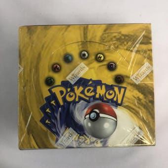 Pokemon Base Set 1 Unlimited Booster Box - EX/MT (cut in shrink on back)
