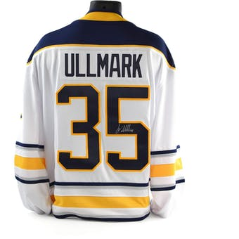 Linus Ullmark Autographed Buffalo Sabres White Jersey