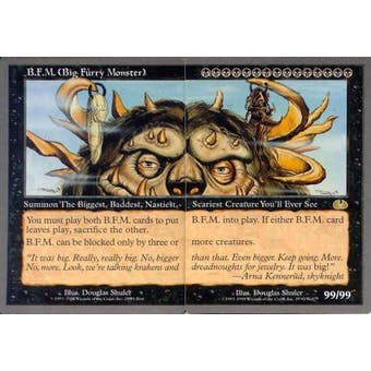 Magic the Gathering Unglued Single Big Furry Monster BFM (2 Cards) - NEAR MINT (NM)