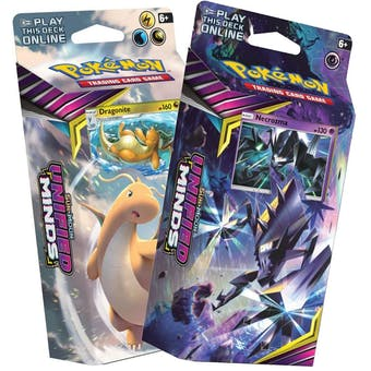 Pokemon Sun & Moon: Unified Minds Theme Deck Set of 2