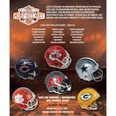 2021 Leaf Autographed Mini-Helmet Football Hobby 10-Box Case (Presell)