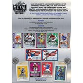 2021 Leaf Metal Draft Football Hobby 15-Box Case (Presell)