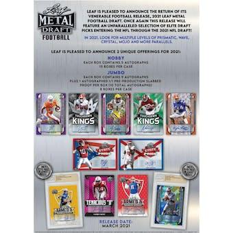 2021 Leaf Metal Draft Football Hobby Box (Presell)