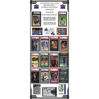 2021 Break King Stars & Legends Hobby Box (Presell)