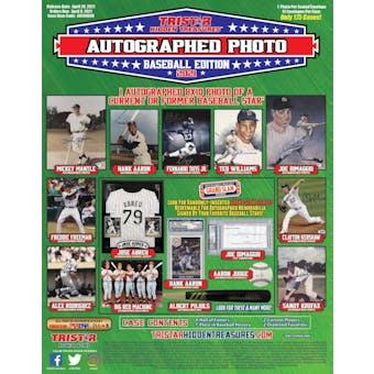 2021 TriStar Hidden Treasures Autographed Photo Baseball Hobby Box