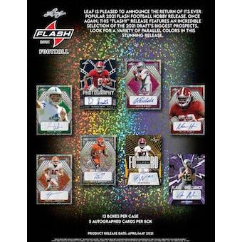 2021 Leaf Flash Football Hobby Box (Presell)