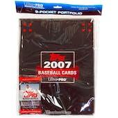 Ultra Pro Topps Baseball 9 Pocket Portfolio (10 pages +1 pack of 2007 Topps Baseball)