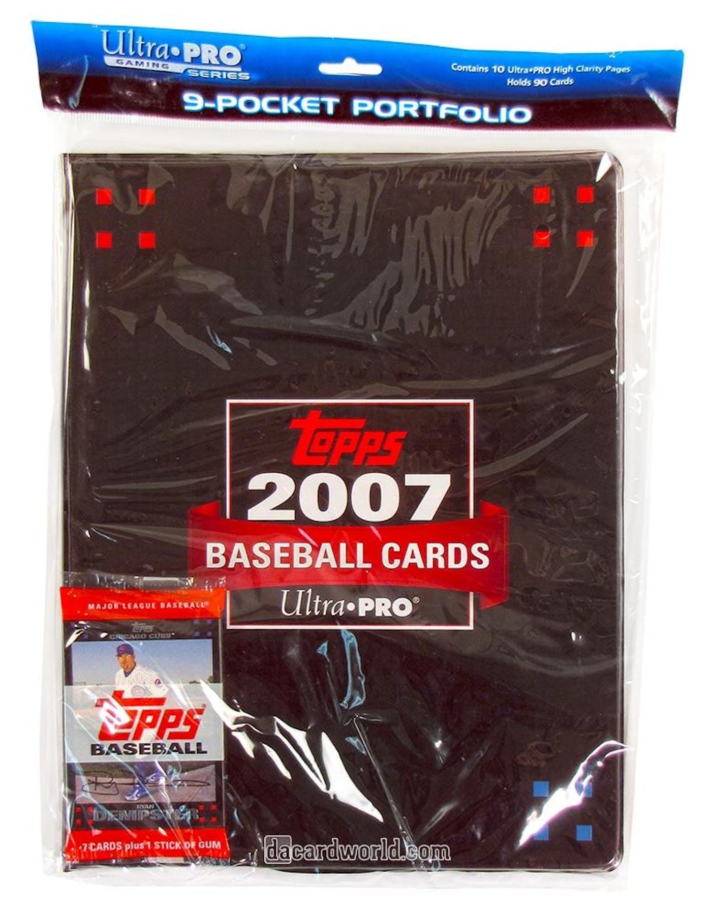 Ultra Pro Topps Baseball 9 Pocket Portfolio 10 Pages 1 Pack Of 2007 Topps Baseball