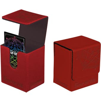 Ultra Pro Force of Will - Red Flip Deck Box (6 Count Case)