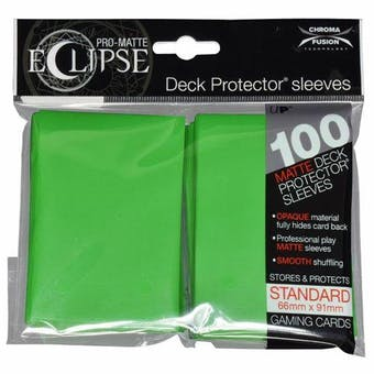 Ultra Pro Matte Eclipse Card Sleeves - Lime Green (100 Ct.)