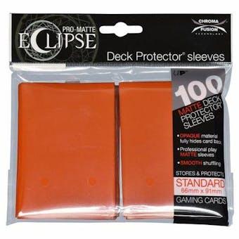 Ultra Pro Matte Eclipse Card Sleeves - Pumpkin Orange (100 Ct.)