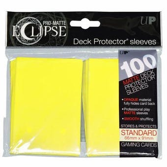 Ultra Pro Matte Eclipse Card Sleeves - Lemon Yellow (100 Ct.)