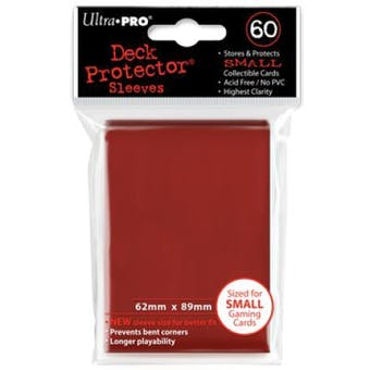 Ultra Pro Yu-Gi-Oh! Size Red Deck Protectors (60 Count Pack)
