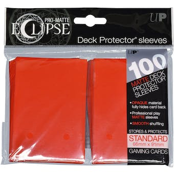 Ultra Pro Matte Eclipse Card Sleeves - Apple Red (100 Ct.)
