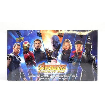2018 Upper Deck Marvel Avengers Infinity War 4-Box- New Year 10 Spot Random Superhero Break #1
