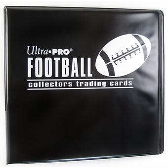 """Ultra Pro 3"""" Black Football Card Collectors Album"""