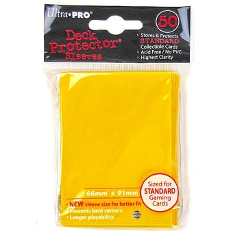 Ultra Pro Yellow Deck Protector 50 Count Pack