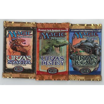 Magic the Gathering Urza's Block Booster Pack LOT Saga Destiny and Legacy