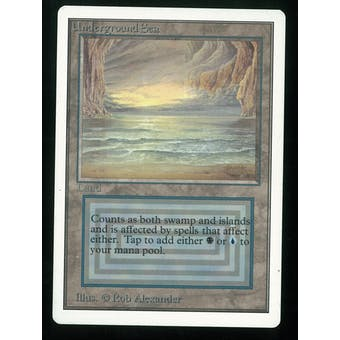 Magic the Gathering Unlimited Single Underground Sea - SLIGHT PLAY (SP)