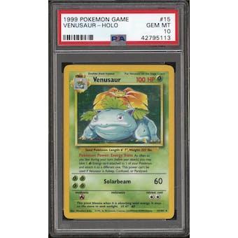 Pokemon Base Set Unlimited Venusaur 15/102 PSA 10 GEM MINT