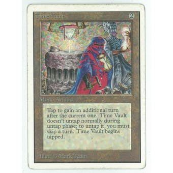 Magic the Gathering Unlimited Single Time Vault - MODERATE/HEAVY PLAY (MP/HP)