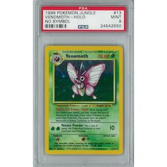 Pokemon Jungle No Set Symbol Error Venemoth 13/64 PSA 9