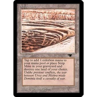 Magic the Gathering Antiquities Single Strip Mine (No Sky, No Tower) - NEAR MINT (NM)
