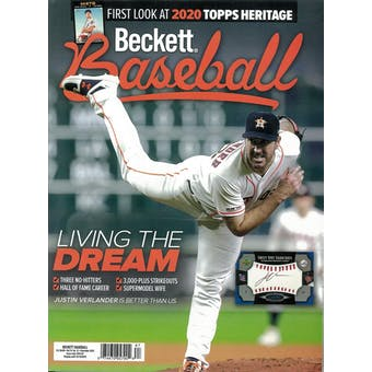 2019 Beckett Baseball Monthly Price Guide (#165 December) (Justin Verlander)