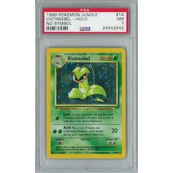 Pokemon Jungle No Set Symbol Error Victreebel 14/64 PSA 7