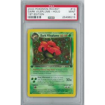 Pokemon Team Rocket 1st Edition Dark Vileplume 13/82 PSA 9