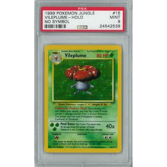 Pokemon Jungle No Set Symbol Error Vileplume 15/64 PSA 9