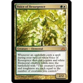 Magic the Gathering Dragon's Maze Single Voice of Resurgence - NEAR MINT (NM)