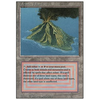 Magic the Gathering 3rd Ed (Revised) Single Volcanic Island - MODERATE PLAY (MP) Sick Deal Pricing