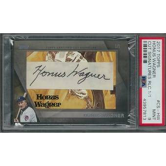 2017 Topps Honus Wagner Cut Autographed Card #1/1 PSA 9