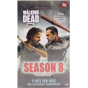 The Walking Dead Season 8 Part 1 Trading Cards Hobby Box (Topps 2018)