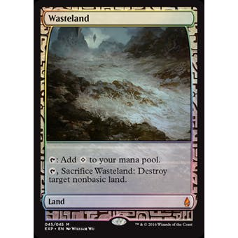 Magic the Gathering Zendikar Expedition Single Wasteland FOIL - NEAR MINT (NM)