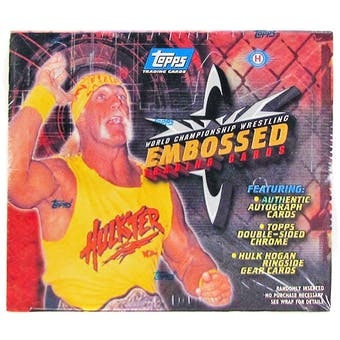 WCW Embossed Trading Card Wrestling Box (Topps 1999)