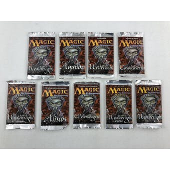 Magic the Gathering Weatherlight Near Global Set Booster Pack Lot - 9 Languages!