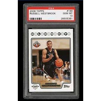 2008/09 Topps Russell Westbrook PSA 10 card #199