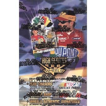 1999 Press Pass Wheels High Gear Racing Retail Box