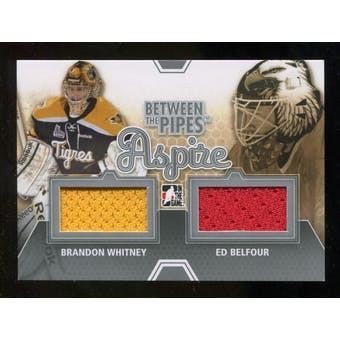 2012/13 In the Game Between The Pipes Aspire Jerseys Silver #ASP10 Brandon Whitney/Ed Belfour /140