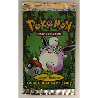 Pokemon Jungle 1st Edition Booster Pack - Wigglytuff Art UNSEARCHED