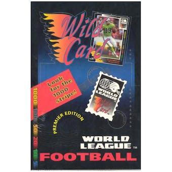 1991 Wild Card World League Football Hobby Box